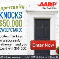 AARP $50K Retirement Sweepstakes