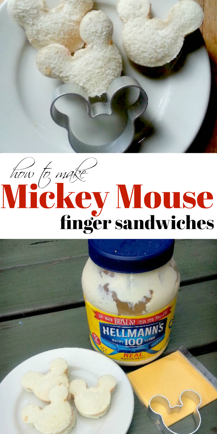 How to Make Mickey Mouse Finger Sandwiches