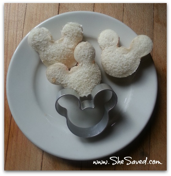 Mickey Mouse Finger Sandwiches