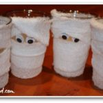 Halloween Arts & Crafts: Mummy Cup Pencil and/or Treat Holders