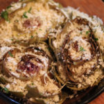 Parmesan Stuffed Roasted Artichokes