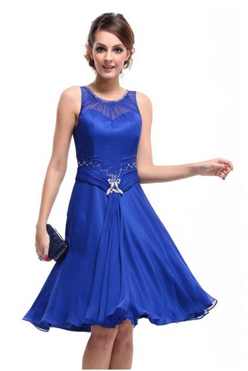 Blue Semi Formal Dress For $39.99 Shipped - SheSaved®