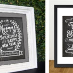 Personalized Chalkboard Holiday Prints For $9.99