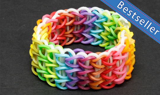 fishtail loom loopz rubberband in bracelet the band dark glow rubber product
