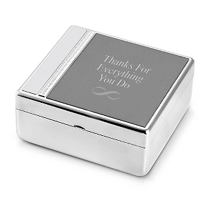 Things remembered free tri tone valet box with purchase for Things remembered jewelry box