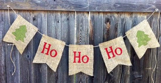 Christmas Burlap Banners