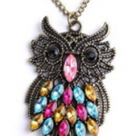 Crystal Owl Prendant For $1 Shipped