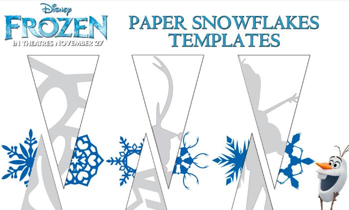 Disney Frozen Paper Snowflake Template