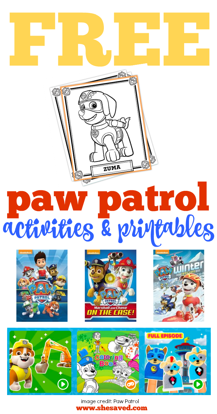 This is a photo of Paw Patrol Printable within banner