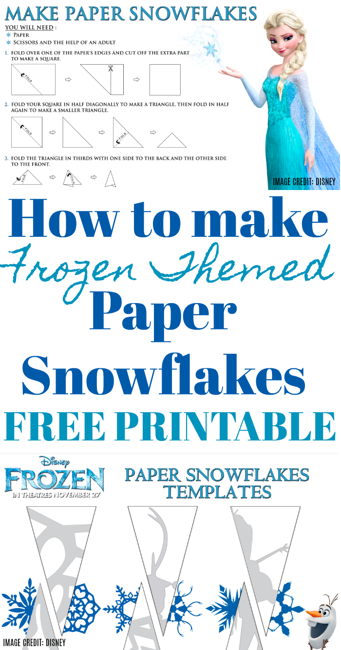 FROZEN Themed Paper Snowflake Free Printable