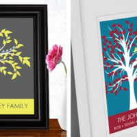 Family Tree Print For $7.95