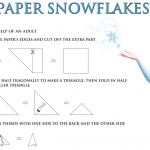 Disney's Frozen FREE Printable:  How to Make a Paper Snowflake