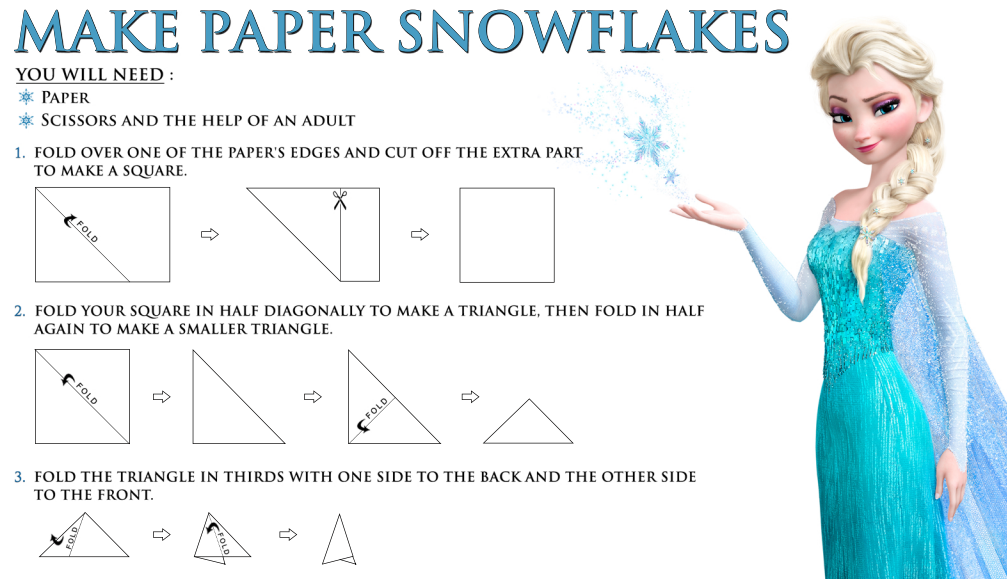 graphic about Frozen Free Printable called Disneys Frozen No cost Printable: How in the direction of Deliver a Paper Snowflake