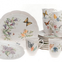 Lenox Butterfly Meadow Dinnerware Set For $118.98 Shipped