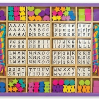Melissa & Doug Deluxe Wooden Stringing Beads For $10.19 Shipped