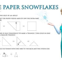 Disney's Frozen FREE Printable: How to Make Paper Snowflakes