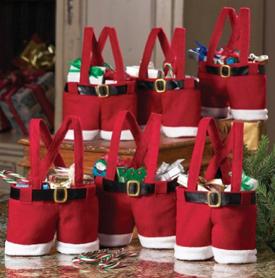 Santa Pants Treat Bags