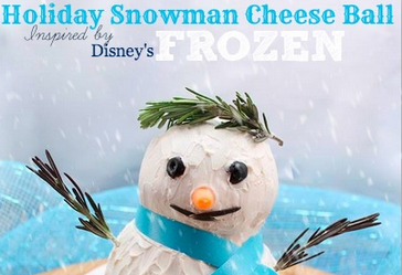 Snowman Cheese Ball as Inspired by Disney's Frozen #DISNEYFROZENEVENT