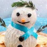 Snowman Cheese Ball Recipe