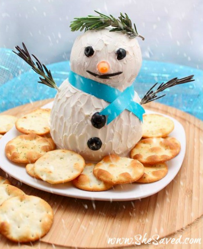 How to make a Snowman Cheeseball as inspired by Disney's Frozen Movie