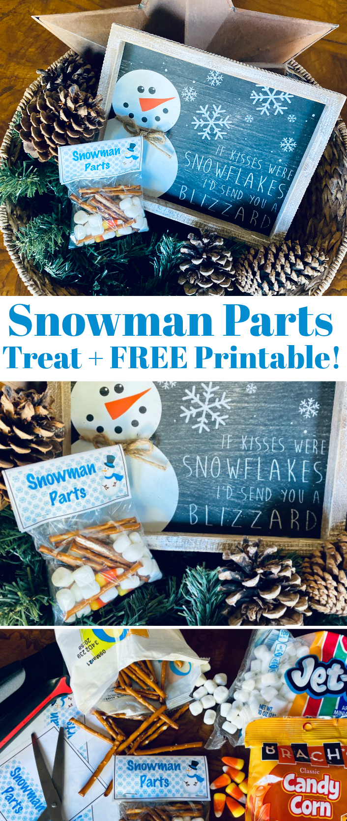 Snowman Parts FREE Printable for Disney Frozen Movie themed snacks
