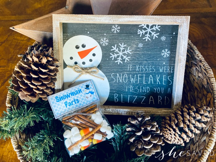 Snowman Parts Snack Idea
