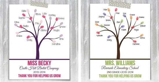 Teacher Thumbprint Tree