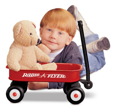 The Radio Flyer Ultimate Family Wagon is the most versatile wagon ever with its patent pending 5-way flip and fold seat. The Radio Flyer Ultimate Family Wagon has a UV protection sun canopy that removes in seconds with the Quick-Clip™ attachment system.