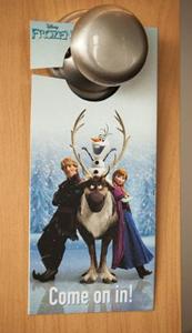 FREE Frozen Door Hanger Printable
