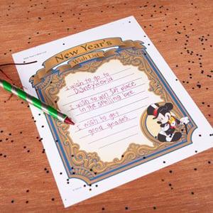 FREE Printable New Year Wish List