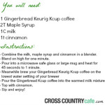 Gingerbread Maple Cappuccino Recipe