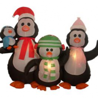 Inflatable Penguin Christmas Yard Decoration For $54.93