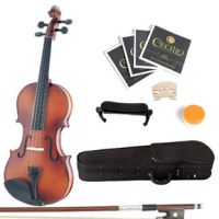 Mendini Solid Wood Violin For $62.92+ FREE One Day Shipping