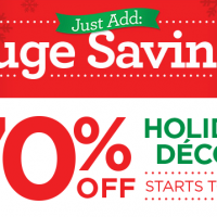 Michaels HUGE Holiday Décor Sale #JustAddMichaels
