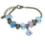 Murano Glass Charm Bracelets For $12.99