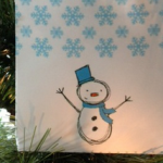 Homemade Gift Idea: FREE Printable Snowman Handle Gift Bag #DisneyFrozenEvent