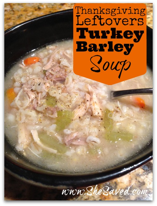 Turkey Barley Soup Recipe: Good Cook Thanksgiving Leftover ...
