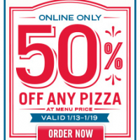Dominos Pizza | 50% Off Any Pizza