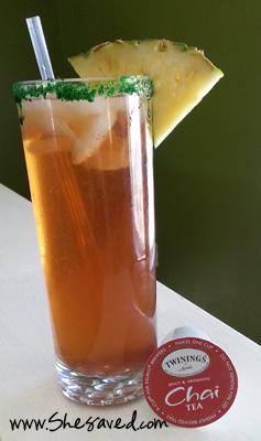 Pinapple Strawberry Iced Chai