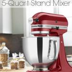 Enter to Win a 5 Quart KitchenAid Artisan Stand Mixer!