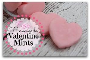 Easy Homemade Valentine Mints