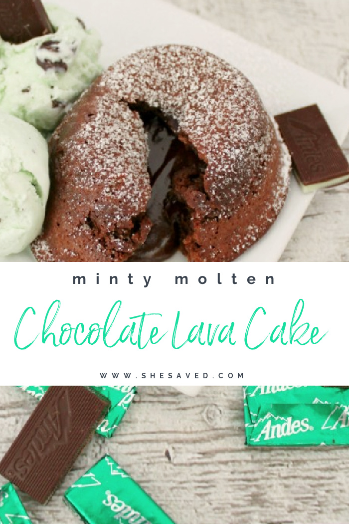 Minty Molten Chocolate Lava Cake Recipe