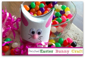 Toilet Paper Roll Craft: Easter Bunny