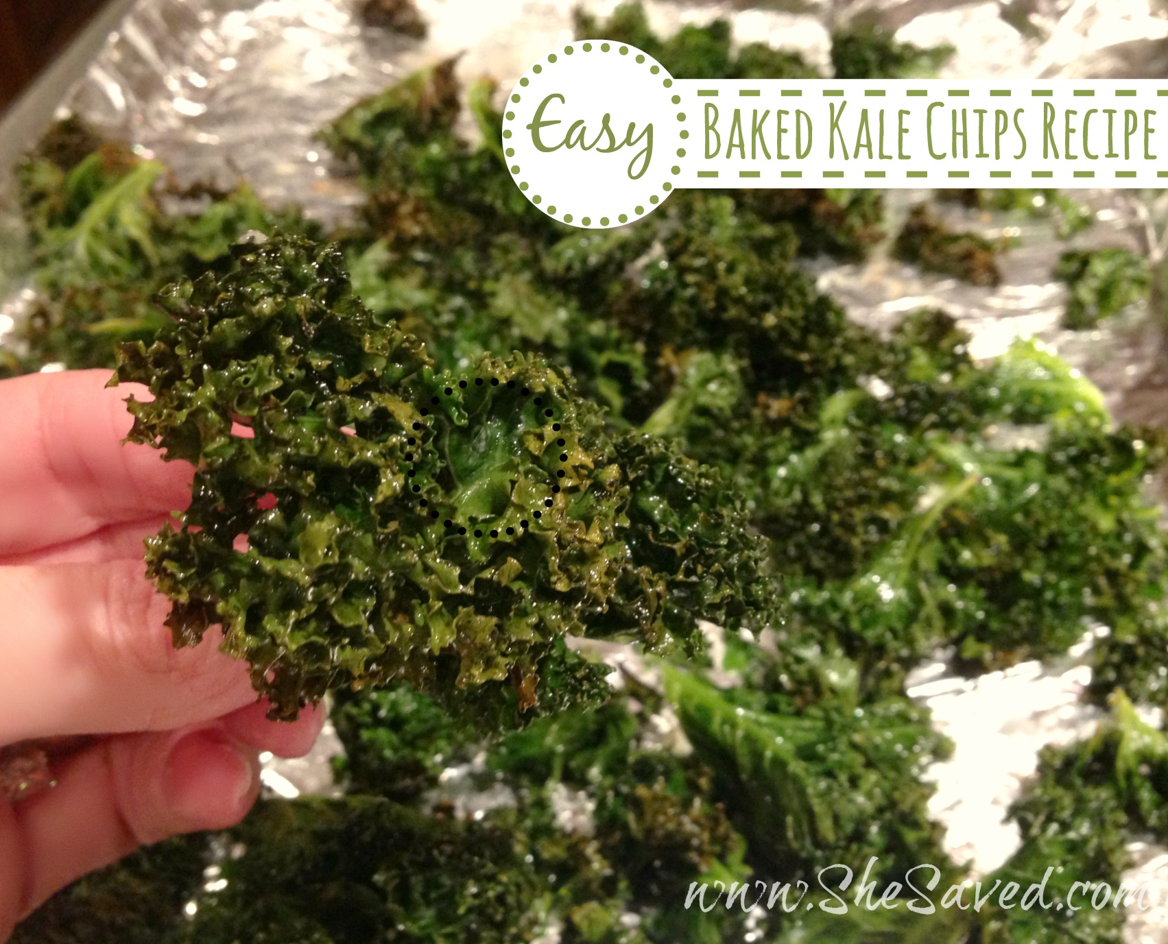 Easy Baked Kale Chips Recipe - SheSaved®