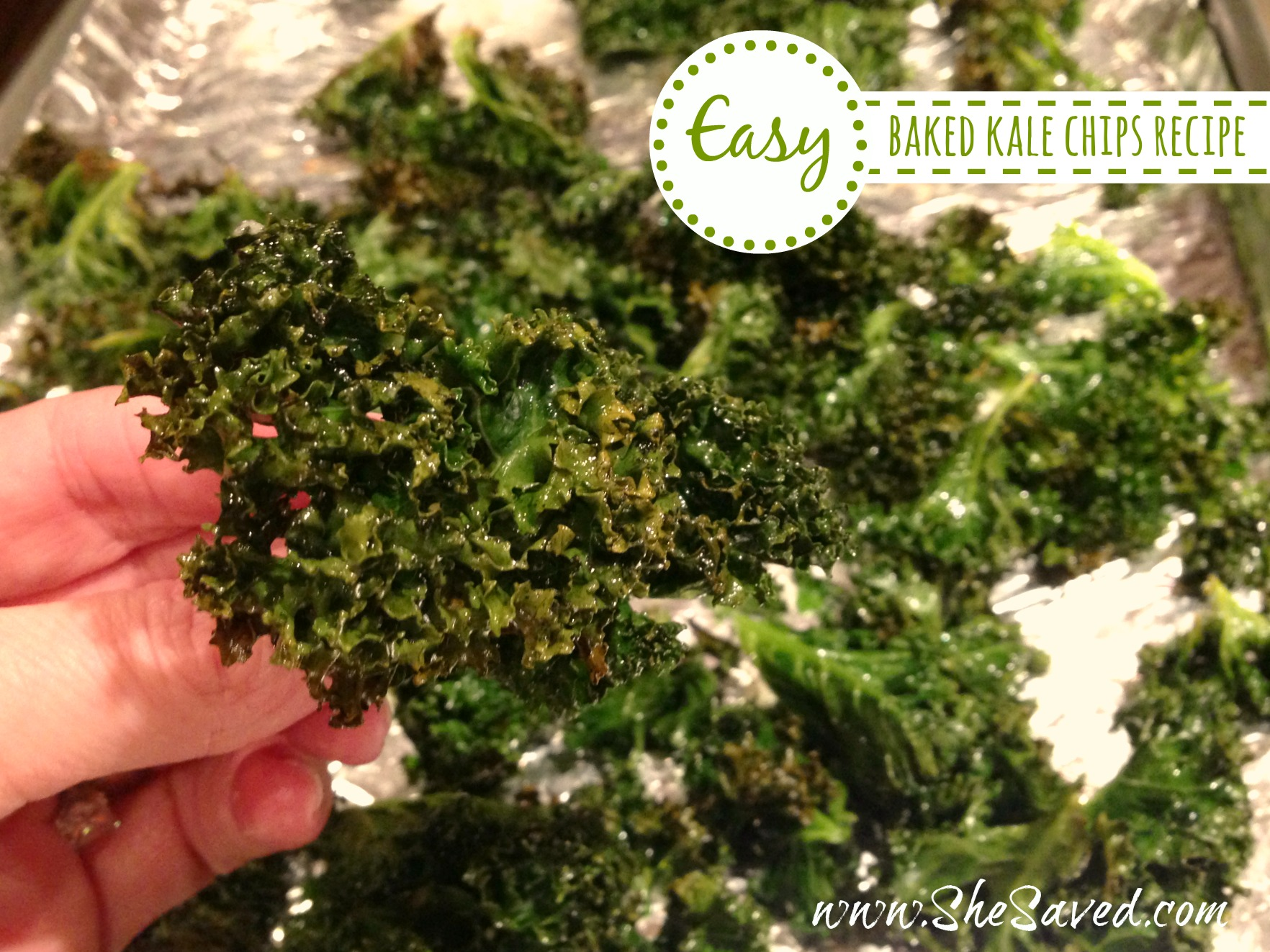 Easy Baked Kale Chips recipe
