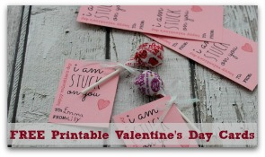 3 FREE Printable Valentine's Day Cards!