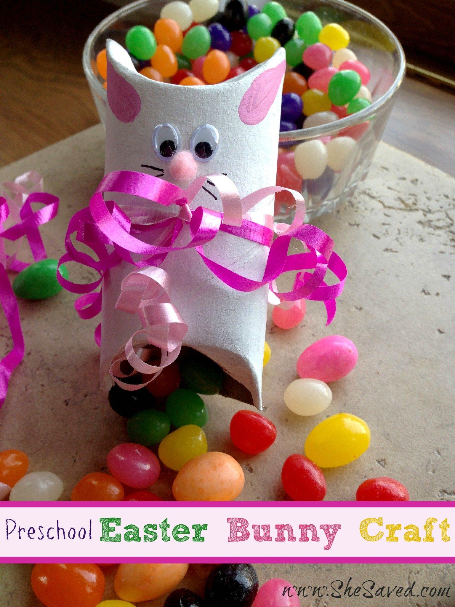 Preschool easter bunny crafts shesaved for Easter craft for preschool