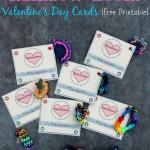 FREE Printable Rainbow Loom Bracelet Valentines