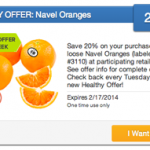 Saving Star | 20% Off Loose Navel Oranges