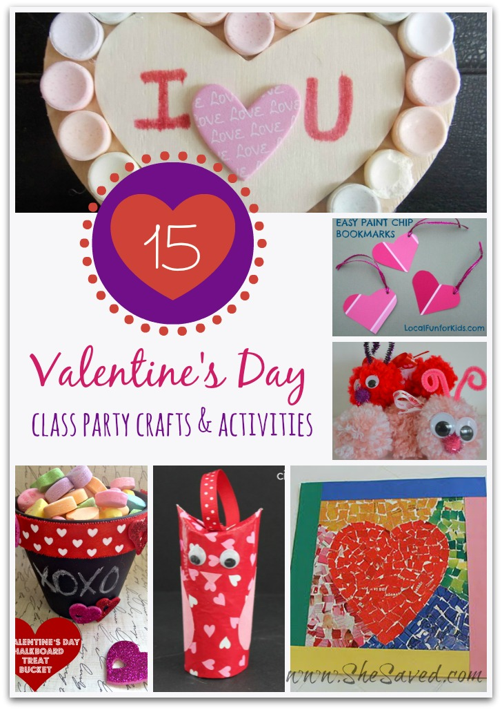 15 Valentine's Day Class Party Crafts & Activities